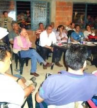 Continúan los diálogos del Gobierno Nacional, autoridades departamentales y dirigentes indígenas, en el resguardo La María, Piendamó, Cauca.