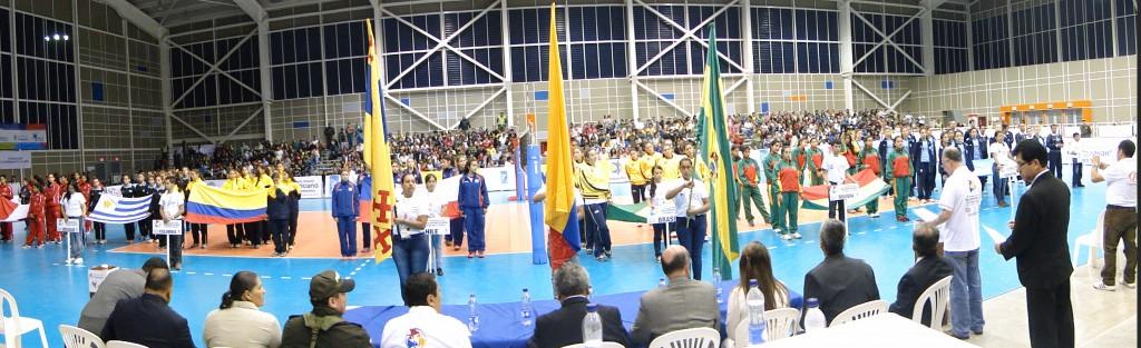 Ceremonia inaugural del II Campeonato Infantil Suramericano de Voleibol Femenino.