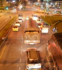 Foto movilidad Popayán de noche