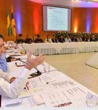 Primer plano presidente Santos