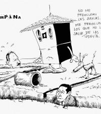 caricatura Periódico La Campana feb 11 de 2014