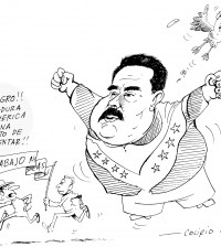 Caricatura de Colirio. Periódico La Campana, febrero 23 de 2014