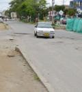 Carrera 6 entre calles 20N y 25N. El consorcio Vías Popayán, solo pavimento una calzada.