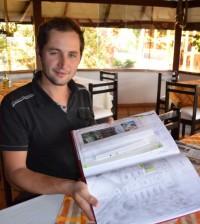 Guillermo Federico Aimar, politólogo argentino, que desde el 2012 recorre en su bicicleta la ruta Ushuaia-Alaska y a finales pasó por Popayán.