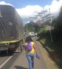 Panamericana toma indígena