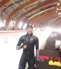 Andrés Felipe Campo Satizábal, múltiple campeón de patinaje de carreras, es también excelente en patinaje sobre hielo.
