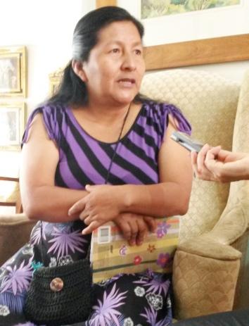 Ana Silvia Secué Pecué, líder indígena y maestra.
