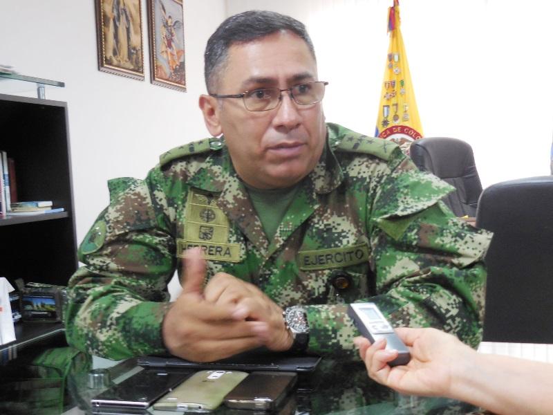 Comandante de la Brigada 29 del Ejército, coronel Jorge Hernando Herrera Díaz
