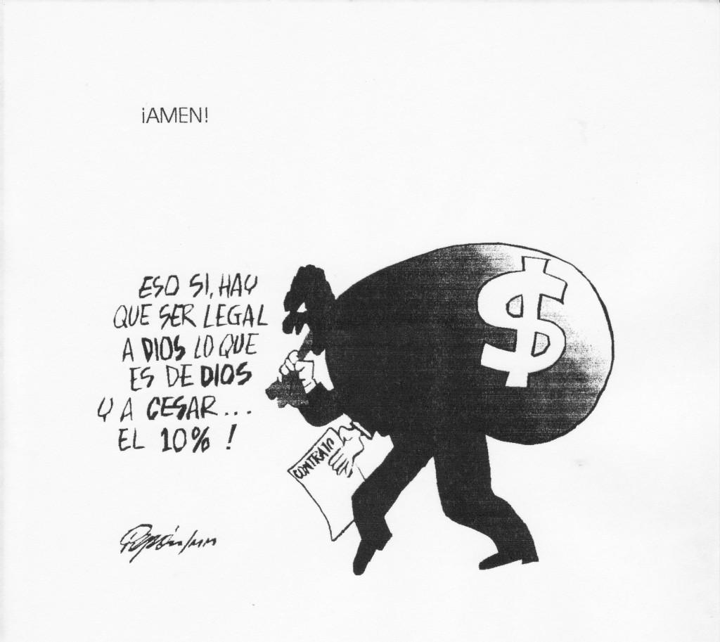 Caricaturas de Pepón referentes a la situación que se vivían a comienzos del siglo XXI en el Cauca.