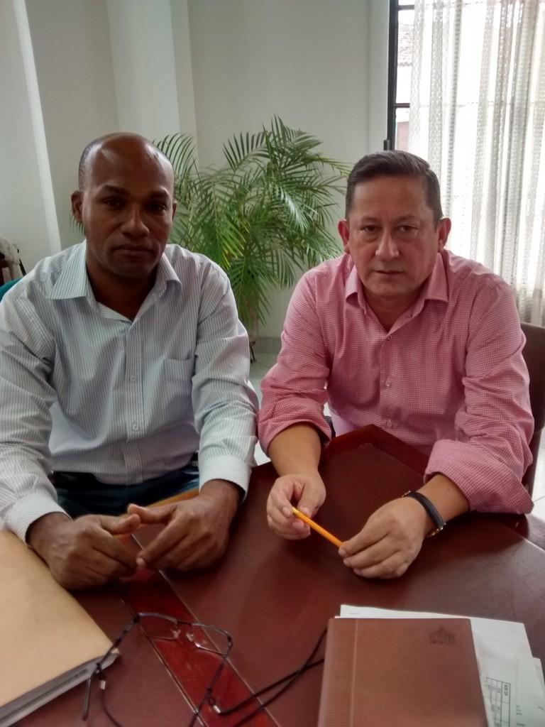 Jaime Ecdivar Santander Alvear y Jaime Gabriel García Mosquera, Delegados del Registrador Nacional del Estado Civil en el Departamento de Cauca.
