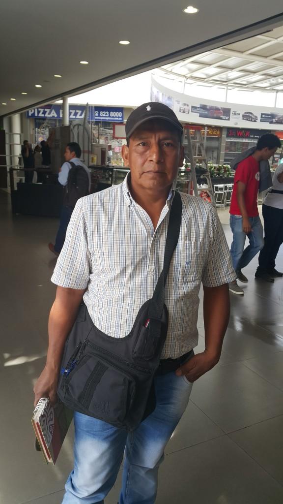 Marcelino Campo Menza, líder indígena.