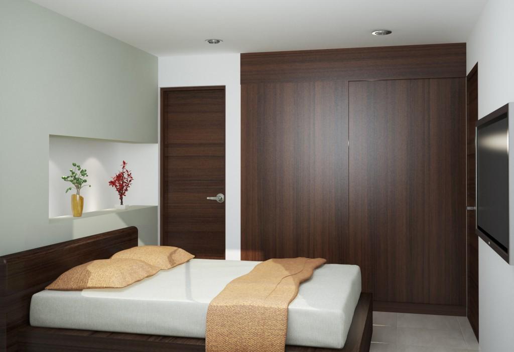 Alcoba principal, apartamento de una alcoba.