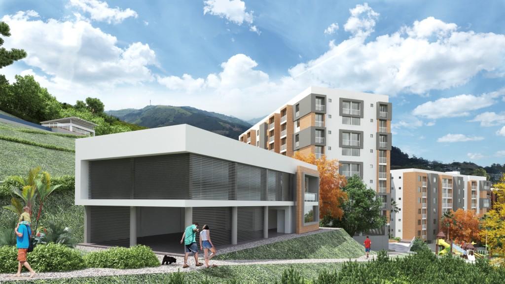 Altos de Pomona, Salón social y gim.