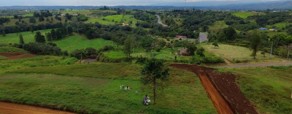 Vista aérea del Condominio Campestre Riveras de Palacé