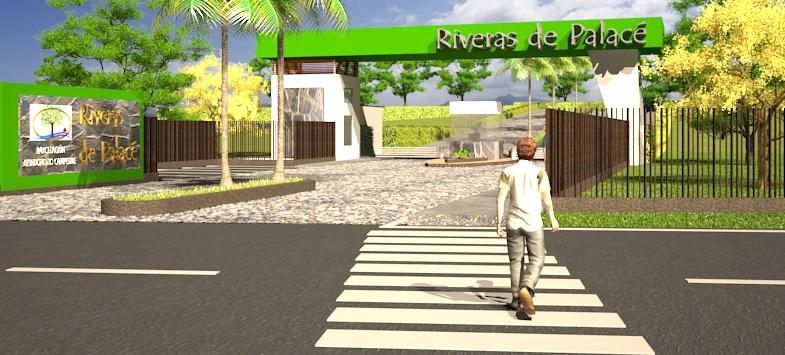 En la entrada a RIVERAS DE PALACÉ se proyecta un Minimarket para satisfacer las necesidades de los residentes.