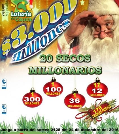 Lotería del Cauca y tres mil millones