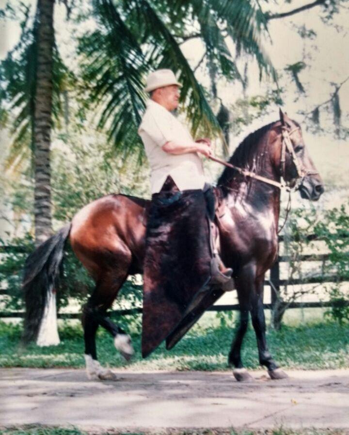 Milo Sarria Diago, fue uno de los pioneros como criador del Caballo de Paso fino Colombiano, en su finca La Estancia de Popayán.
