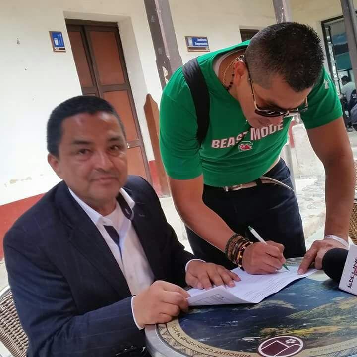Herman Montoya Llantén, vocero y promotor de la revocatoria del mandato del alcalde de Popayán.