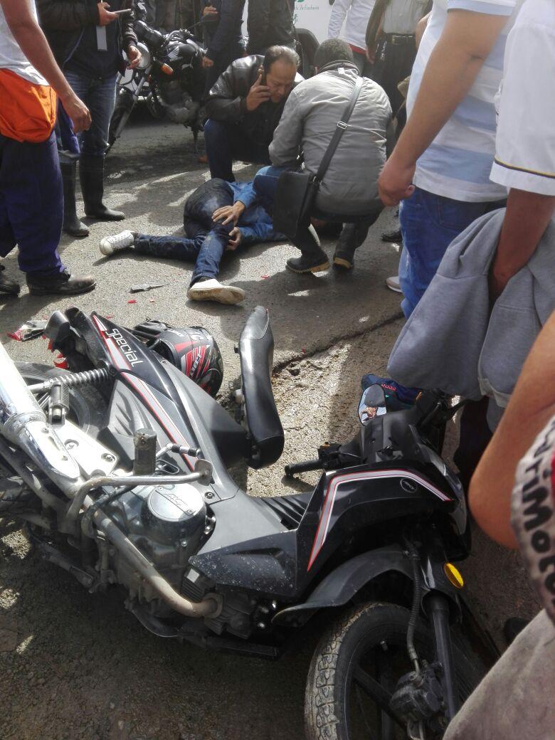 Accidente ocurrido el 12 de mayo de 2017 que tiene en delicado estado de salud a joven estudiante de Biología de Unicauca.