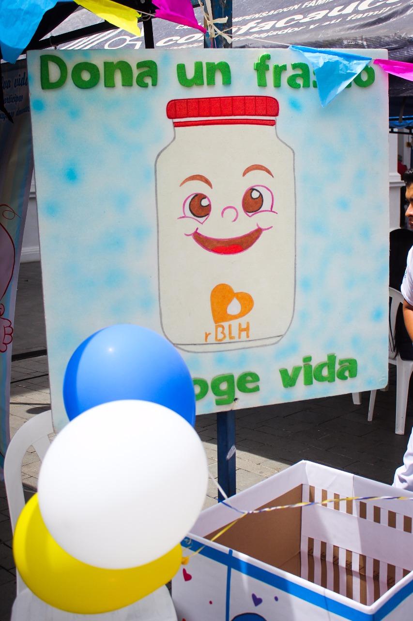 Mensaje alusivo a la donación de leche materna.