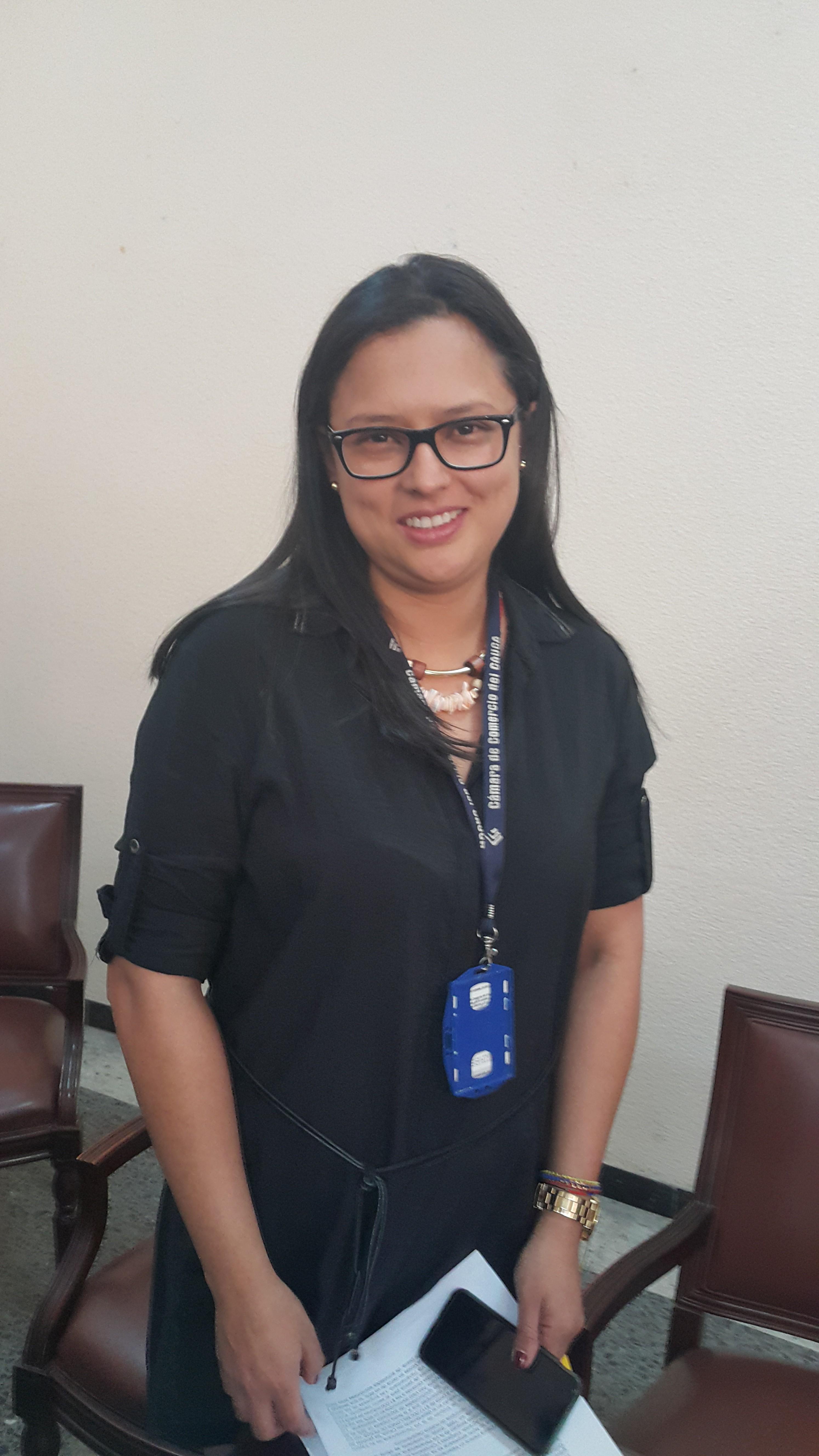 Luz Stella Ramírez, presidenta ejecutiva ( e ) de la Cámara de Comercio del Cauca.