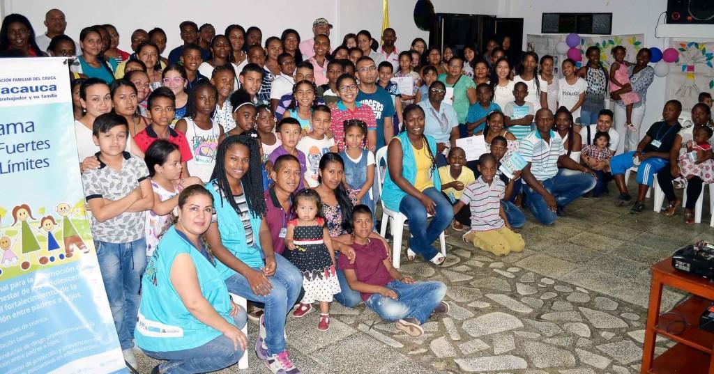 Familias del Departamento del Cauca participaron en talleres de fortalecimiento de lazos familiares y comunicación.