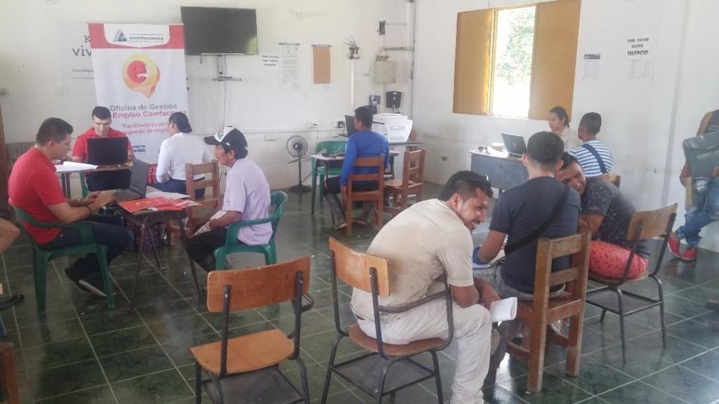 En la Jornada de Empleo, fueron atendidas personas de la cabecera municipal de Piamonte y de ocho veredas.