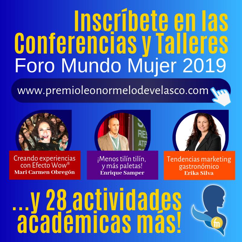 Foro Mundo Mujer 2019 conferencias